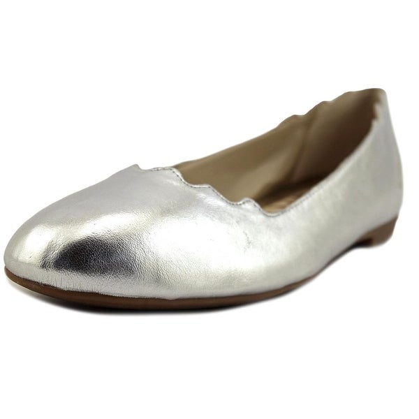 b4724be04a140f Shop Sam Edelman Finnegan Silver Met Flats - Free Shipping Today ...