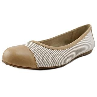 Softwalk Napa Women Round Toe Leather Tan Ballet Flats