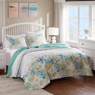 Barefoot Bungalow Grand Bahama Reversible Oversized Quilt Set