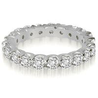 14K White Gold 2.00 cttw. Round Cut Shared Prong Diamond Eternity Ring HI,SI1-2