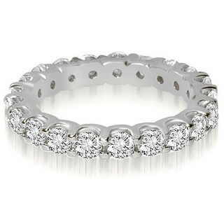2.00 ct.tw 14K White Gold Round Shared Prong Diamond Eternity Ring