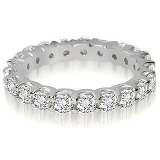 14K White Gold Round Shared Prong Diamond Eternity Ring