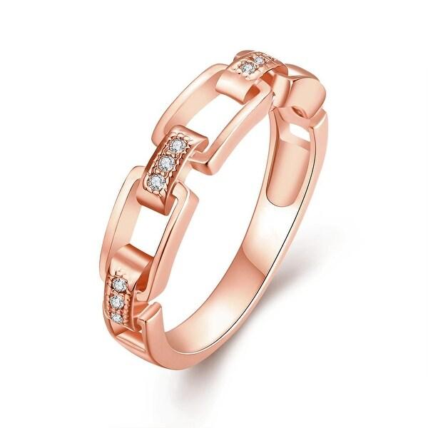 Petite Rose Gold Links Ring