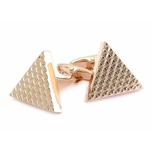 Triangle Cufflinks In Rose Gold