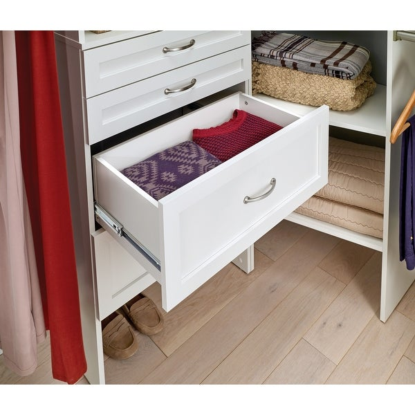 "ClosetMaid SuiteSymphony 25"" W x 10"" H Drawer. Opens flyout."