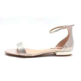 INC International Concepts Womens Yaffa Leather Open Toe Casual Slide Sandals