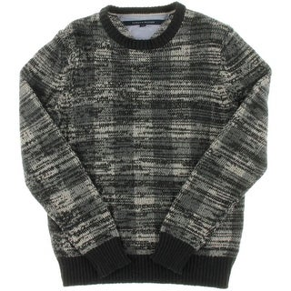 Tommy Hilfiger Mens Wool Blend Plaid Pullover Sweater