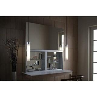 "Robern UC4827FPL Uplift 48"" x 27"" x 6"" Single Door Medicine Cabinet with Integrated Electrical, Nightlight, and Mirror Defogger"