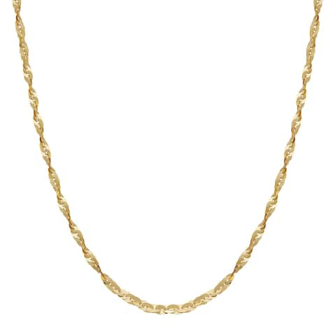 """Cleo Link Chain Necklace in 10K Gold, 18"""" - Yellow"""