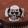 Vienna Jewelry Hollow Stainless Steel Skull Ring - Thumbnail 1