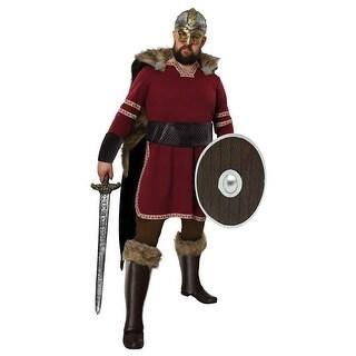 Men's Burgundy Viking Costume