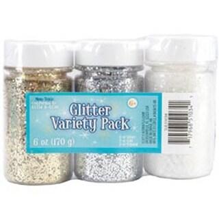 Gold; Silver & Crystal - Glitter Variety Pack 2Oz 3/Pkg