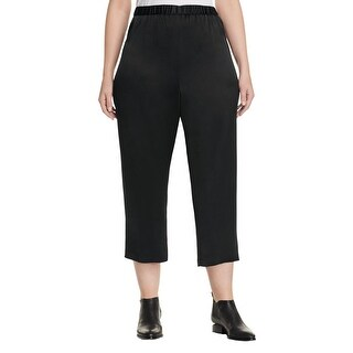 Eileen Fisher Womens Plus Cropped Pants Cropped Silk
