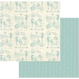 "Sea Breeze Double-Sided Paper 12""X12""-Collecting Shells"