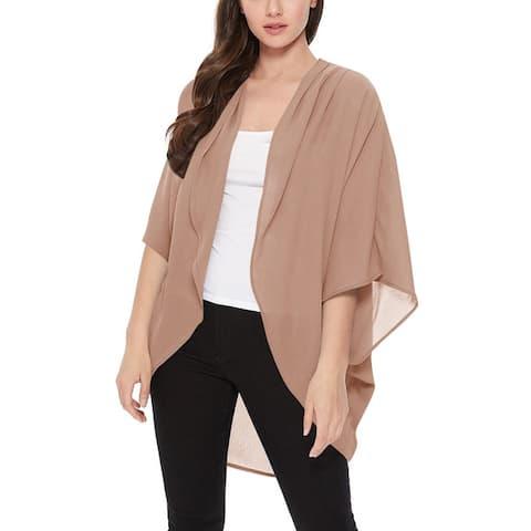 Women's Solid Kimono Outerwear Sweater Cardigan