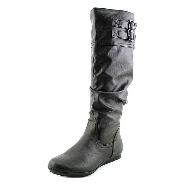 White Mountain Cayley Round Toe Synthetic Knee High Boot