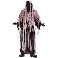 Gauze Zombie with Flashng Eyes Adult Costume - gray