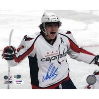 Alex Ovechkin Autographed Washington Capitals 8x10 Photo White PSADNA PSM