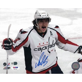 Alex Ovechkin Autographed Washington Capitals 8x10 Photo (White) PSA/DNA