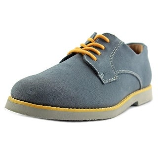 Florsheim Kearny Jr Youth Round Toe Suede Blue Loafer