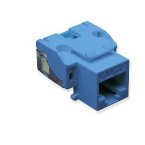 ICC IC107E5CBL 25-Pack EZ Category 5e Modular Connectors RJ-45 Keystone Jacks - Multicolor