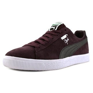 Puma Clyde B&C  Men  Round Toe Suede Purple Sneakers