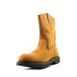 Wolverine Ingham Well Men EW Round Toe Leather Brown Work Boot