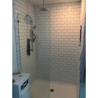 Glass Warehouse 78-inch x 28-inch Frameless Shower Single Fixed Panel