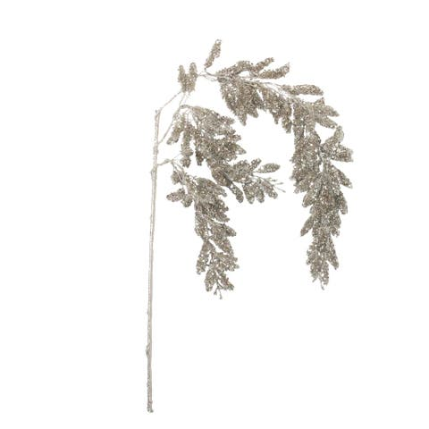 """48"""" Champagne Glitter Hanging Pine Artificial Christmas Spray"""