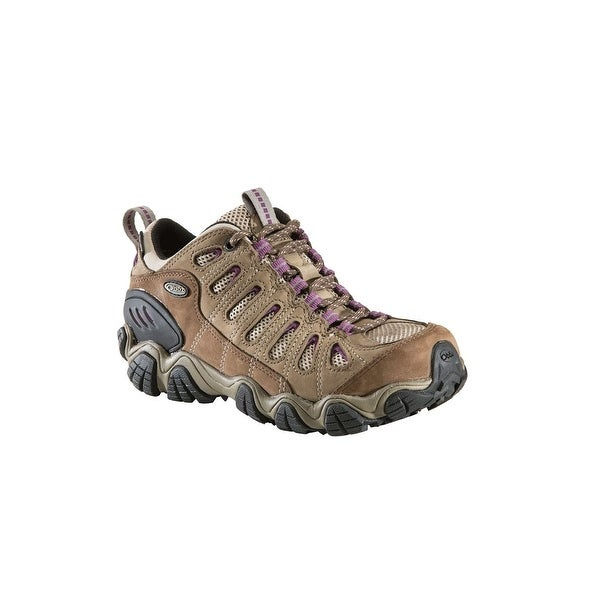 Oboz Sawtooth BDry Hiking Shoes, Womens, Brown/Violet, 8.5 - brown/ violet