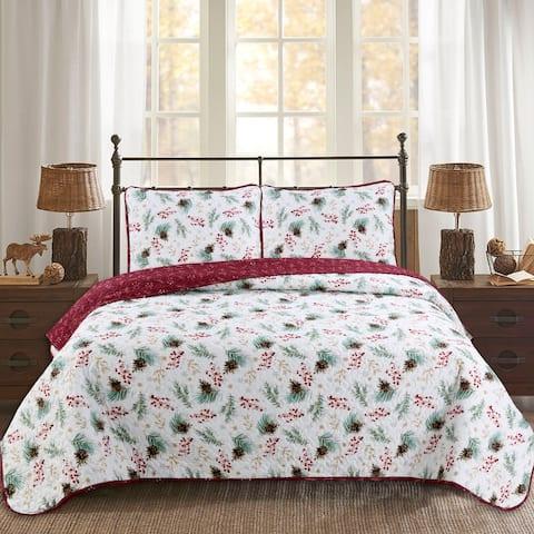 Berry Pinecone 3-piece Quilt Set