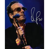 Elvis Costello signed 8x10 Photo silver sig PSAJSABAS Guaranteed To Pass