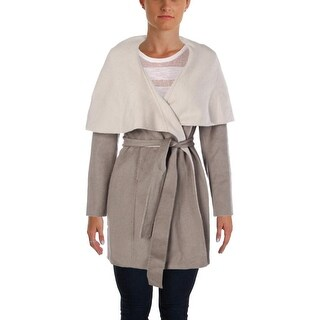Elie Tahari Womens Mala Wool Blend Wrap Coat