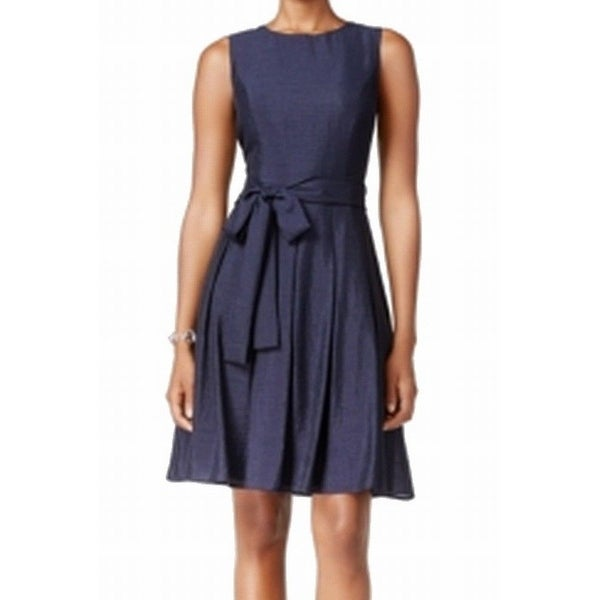 114037563b7 Tommy-Hilfiger-NEW-Blue-Women s-Size-16-Pleated-Fit- -Flare-Dress.jpg