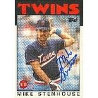 Mike Stenhouse Minnesota Twins 1986 Topps Autographed Card This item comes with a certificate of authenticity from Au