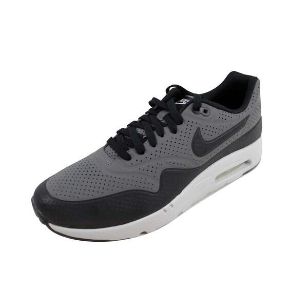 Shop Nike Men's Air Max 1 Ultra Moire Dark GreyBlack Silver