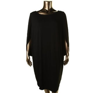 Three Dots Womens Plus Drapey Solid Casual Dress