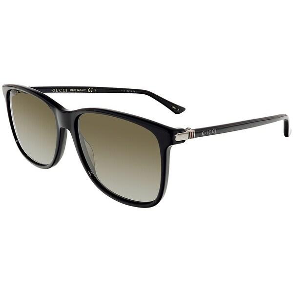 7afc7d2493a Shop Gucci GG0017S-001-57 Black Square Sunglasses - Free Shipping ...