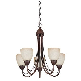 Sunset Lighting F2685 Tempest 5 Light Fluorescent Energy Star and CA Title 24 Compliant Chandelier