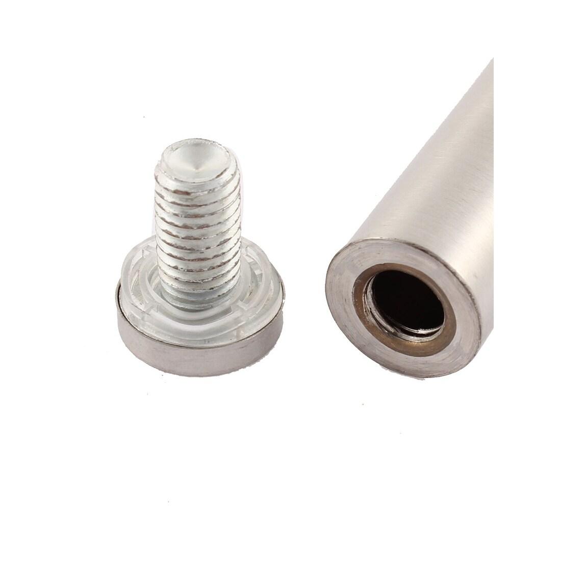 8 Pcs 19mmx100mm Billboard Advertisement Nails Screws Glass Standoff Pins Holder