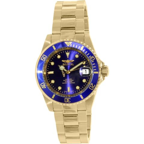 Invicta Men's Pro Diver Gold Stainless-Steel Plated Diving Watch