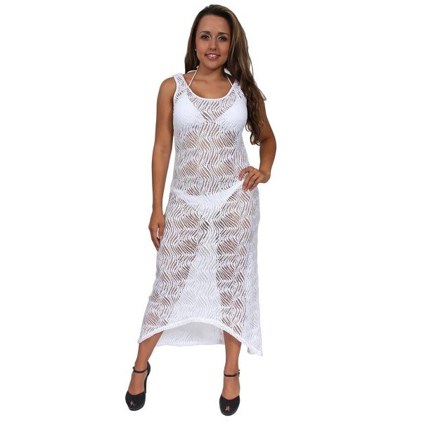 Shop Women's Elegant Beach Dress Cover Up Maxi Crochet ...