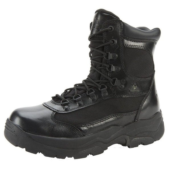 "Rocky Work Boots Mens 8"" Fort Hood Waterproof Leather Black"