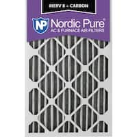 Nordic Pure 10x20x2 Pleated MERV 8 Plus Carbon AC Furnace Air Filters Qty 3