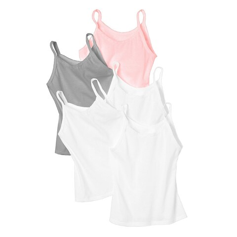 Hanes Girls' Cami 5-Pack - Size - S - Color - Wardrobe