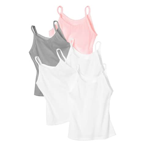 Hanes Girls' Cami 5-Pack - Size - S - Color - Wardrobe - Assorted