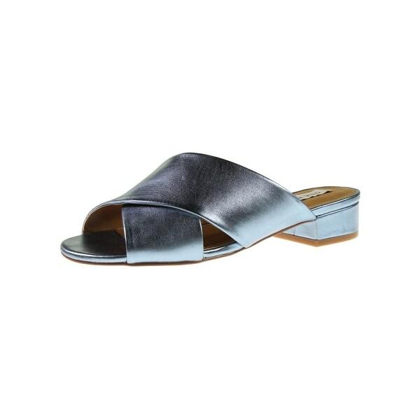 Steve Madden Womens Infamous Slide Sandals Open Toe Crisscross