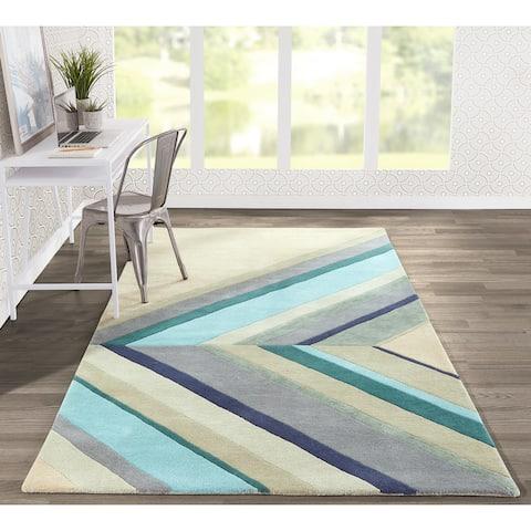 Novogratz by Momeni Delmar Wool Asymmetric Stripe Runner Rug (2'3 x 8')
