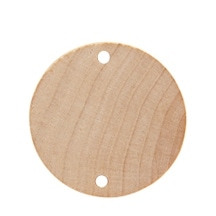 """150 Pcs of 1-1/2"""" Birthday Board Tags Wooden 1-1/2"""" Diameter x 1/8"""" Thick  1/8"""" Holes"""