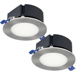 "Bazz Lighting SLTB47502 LED SLIM 4.5"" LED IC Rated Shower Trim Integrated Recess"